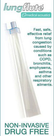 Lung Flute Offers Fast, Safe, Effective Relief From Lung Congestion caused by COPD, Bronchitis, Emphysema, Asthma, & Other Respiratory Ailments - 100% Natural, Drug-Free, Non-Invasive