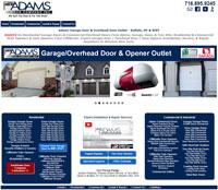 Adams Door Company Garage Door Sales & Services, Buffalo, NY - 1stFlash Responsive Website Design